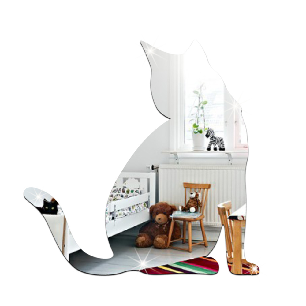 funlife Creative environmental mirror wall sticker ...