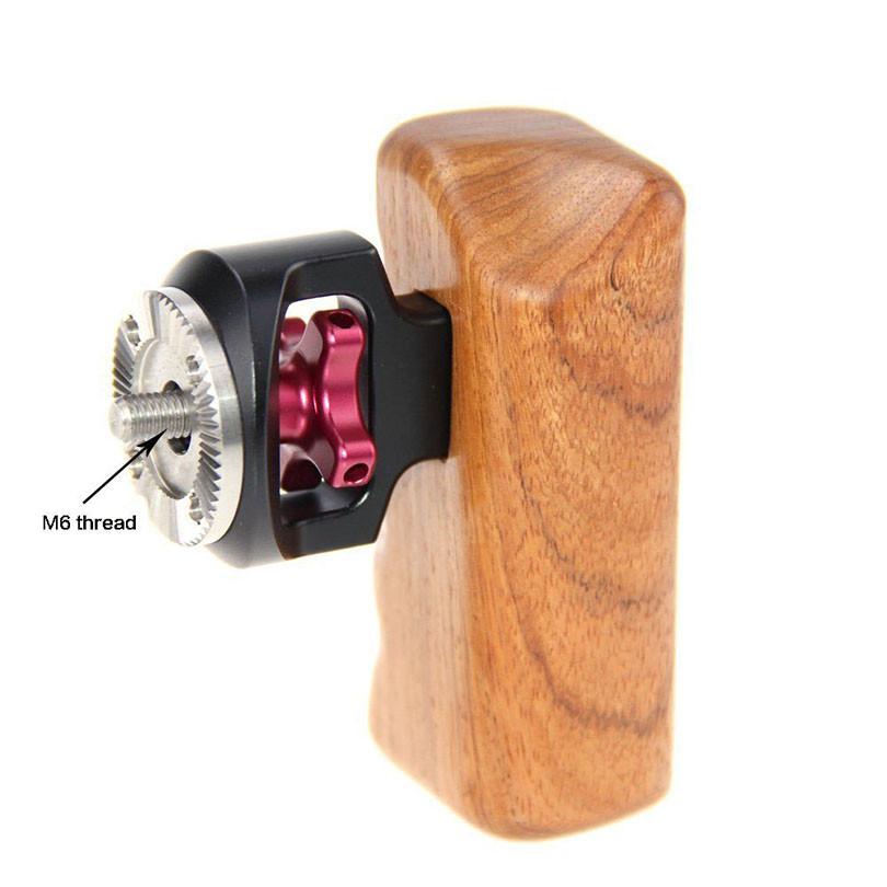 CAMVATE Wooden Handle Grip M6 ARRI Thread Fr Video DSLR Camera Cage Rig Kits High Quality Photo Studio Accessories C1319 (1)