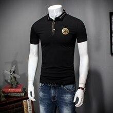small Lapel t-shirt men's short sleeved big code half sleeved men's  Shirt simple European and American men's shirt