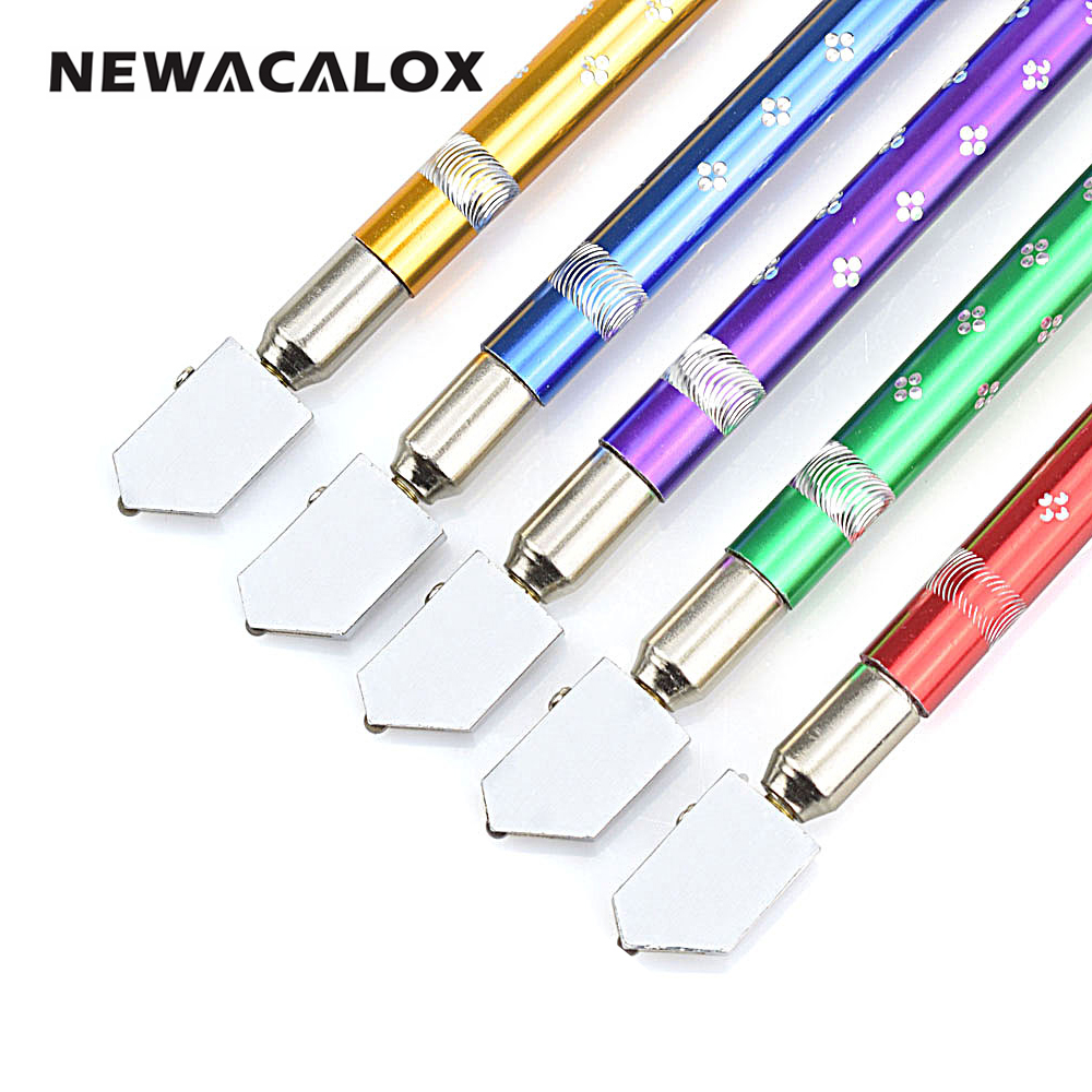 NEWACALOX Professional Oil Filled Tungsten Carbide Bottle Glass Cutter Cutting Wheel Metal Handle Head Toyo Diamond Hand Tools ...