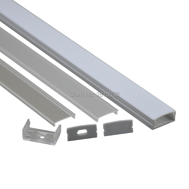 Led Bar Lights 10 X 0.5m Sets/lot U Type Anodized Aluminium Led Mounting Strips And Al6063 Aluminum Led Lights Housing For Recessed Wall Lights Mild And Mellow Lights & Lighting