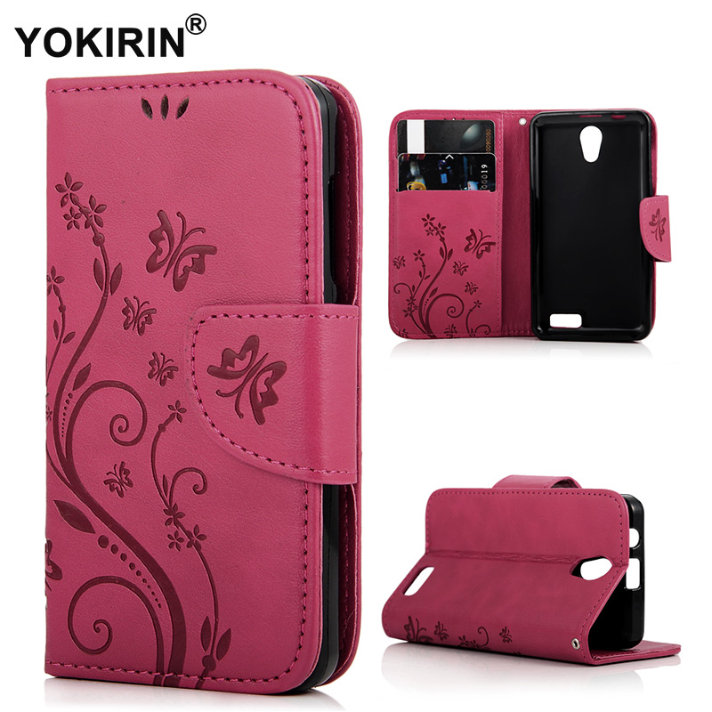 YOKIRIN For Lenovo A319 Book Style Wallet PU Leather Phone Case For Lenovo  A 319 3D Emboss Butterfly Cover Card Slots Holder