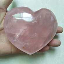 huge Natural rose quartz crystal heart healing crystals and ornament stones love natural rose oil painting flower carving jewelry diy natur stones and crystals