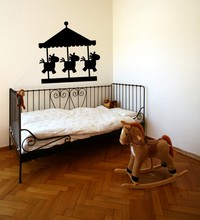 Kids Rooms Wall Decal Carousel Horse Vinly Sticker Playroom Nursery Decor Removable Circus Carnival Mural SY66