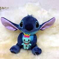 25cm Luminous Cartoon Kawaii Stitch Plush Doll Toys Anime Lilo And Stitch Stich Plush Toys For
