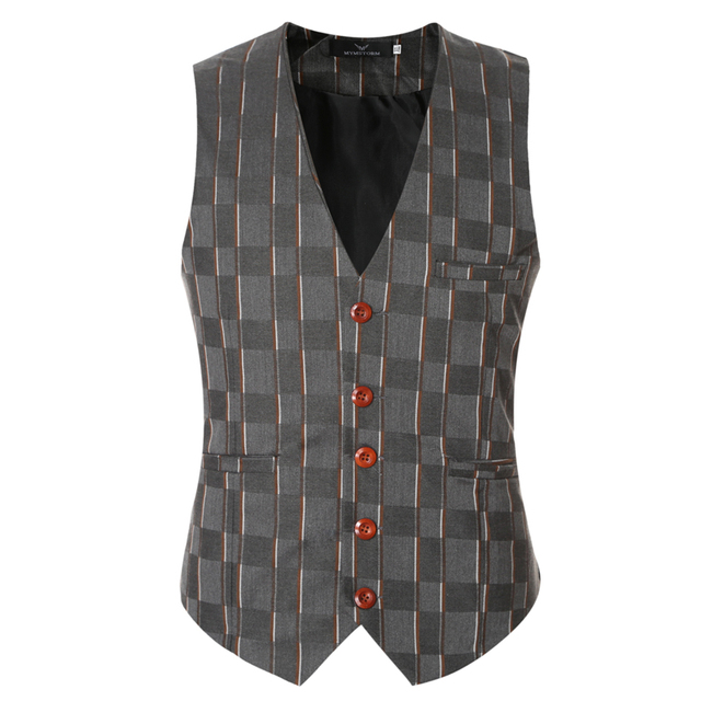 good quality 2016 famous brand wedding mens suit vest sleeveless slim fit mens vest dress size m-3xl