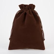 Gift Pouch 20x30cm(8″x12″) Bigger Velvet Red Wine Packaging Bag Makeup Jewelry Drawstring Bag Glasses Shoe Scarf Pocket