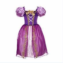 4-10 Años de Muchachas Grandes de Los Niños de Navidad Carnaval Traje de Princesa de La Muchacha Vestidos de princesa de las muchachas Del Arco Iris Para Niños Traje Vestidos(China (Mainland))