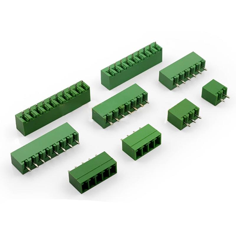 10pcs Plug-in Terminal 2EDG 3.81MM 2P/3/4/5/6/7/8/9/10/12P13P/14P/15P/16P Straight Pin