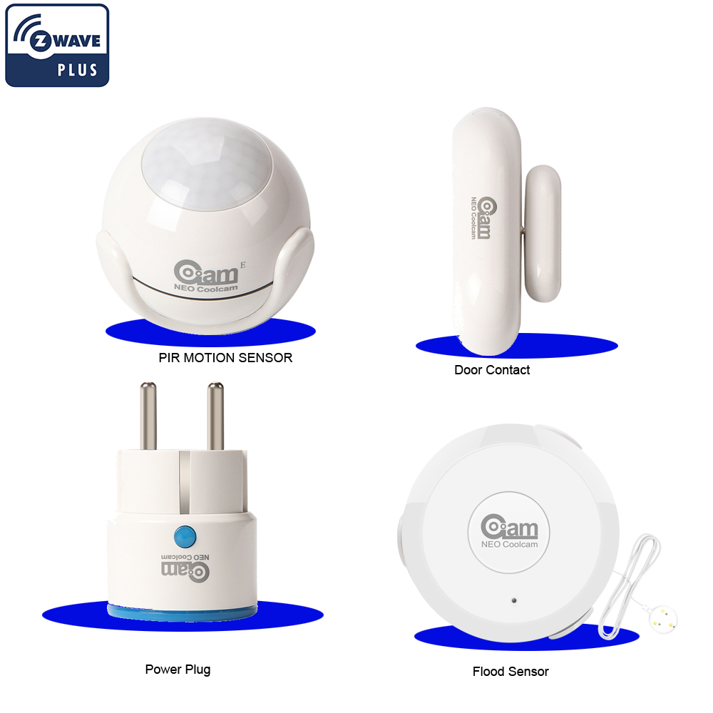 Здесь продается  NEO COOLCAM ZWAVE PLUS Home Automation Kits Include Power Plug+Door Contact+Flood Water Sensor+Door/Windoor Contact Sensor  Безопасность и защита