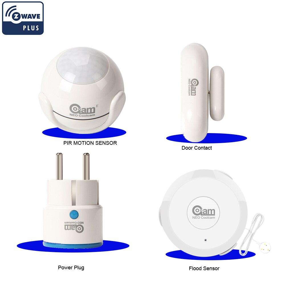NEO COOLCAM ZWAVE PLUS Home Automation Kits Include Power Plug+Door Contact+Flood Water Sensor+Door/Windoor Contact Sensor