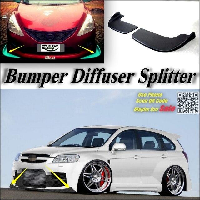 2012 Chevy Captiva Accessories: Car Splitter Diffuser Bumper Canard Lip For Chevrolet
