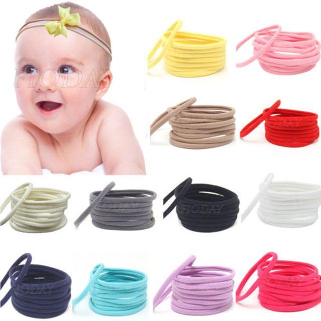 60 unids bebé venda de nylon elástico recién nacido Bandas para la cabeza  tocado DIY multi 7cdac5f88d10