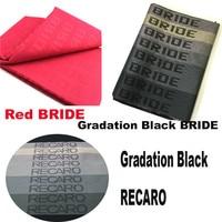 100CM X160CM JDM BRIDE Racing RECAROs Car Seat Auto Fabric Black Red BRIDE Car Seats Cover
