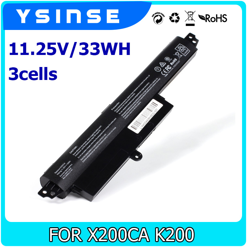 YSINSE Laptop Battery For ASUS VivoBook X200CA X200 MA X200CA F200MA F200CA A31N1302 A31LM9H A31LMH2 0B110-00240100E 1566-6868