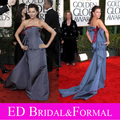 Sofia Vergara vestido Bow cinza Prom vestido 2010 Golden Globe Awards Red Carpet
