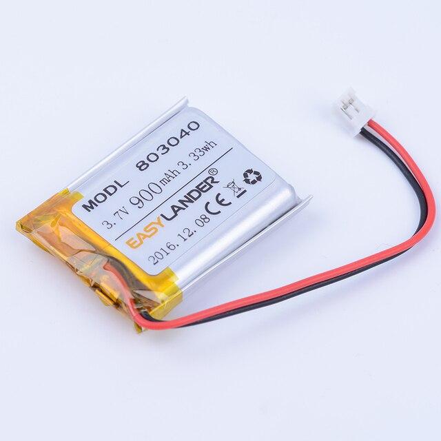 Li-ion аккумулятор 3.7v 800mah 2.96wh для видеорегистратора видеорегистратор в металлическом объективом модели
