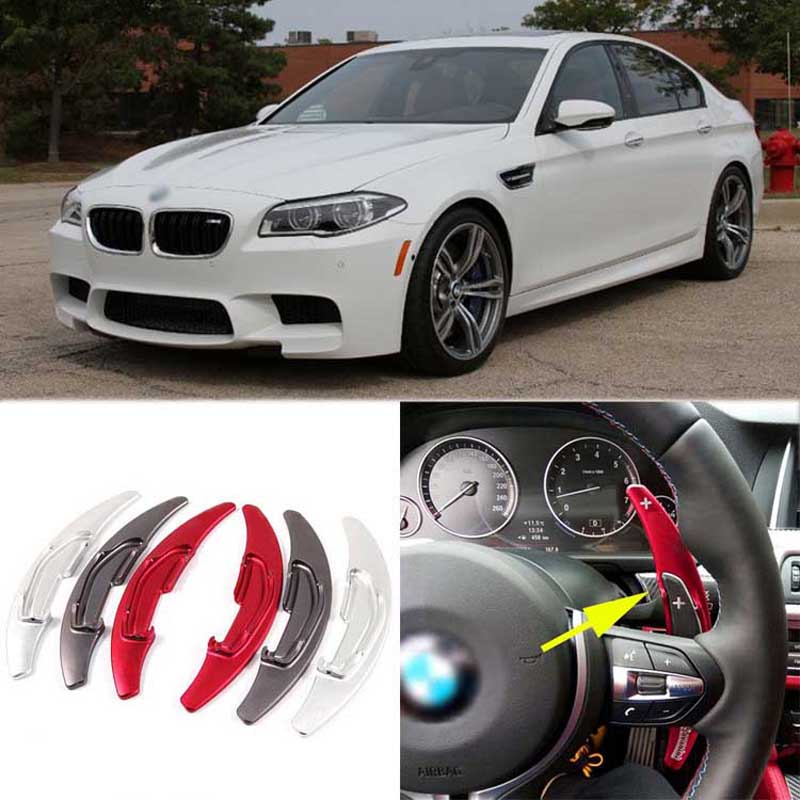 Savanini 2pcs Alloy Add-On Steering Wheel DSG Paddle Shifters Extension For BMW M2/M3/M4/M5/M6/X5 M/X6 M 2016 hot sale free super performance 2015 professional mini dsg reader dq200 dq250 for new release dsg