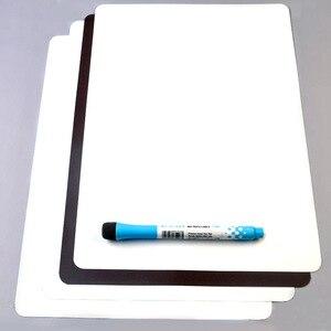 Image 2 - 3 adet/takım manyetik beyaz tahta buzdolabı mıknatısları kuru silme beyaz tahta işaretleyici silgi yazma kayıt mesaj panosu hatırlatmak not defteri