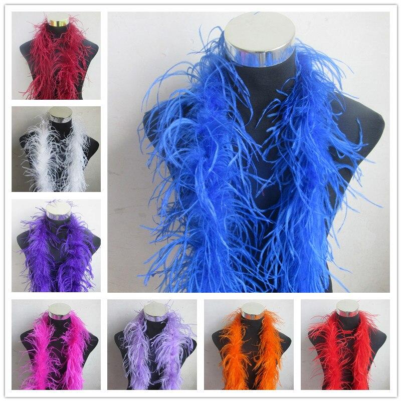 Hermoso 10 m 5 tira de plumas de avestruz natural Boa disfraces mullidos de calidad/adorno para fiesta/disfraz/chal /disponible-in Pluma from Hogar y Mascotas    1