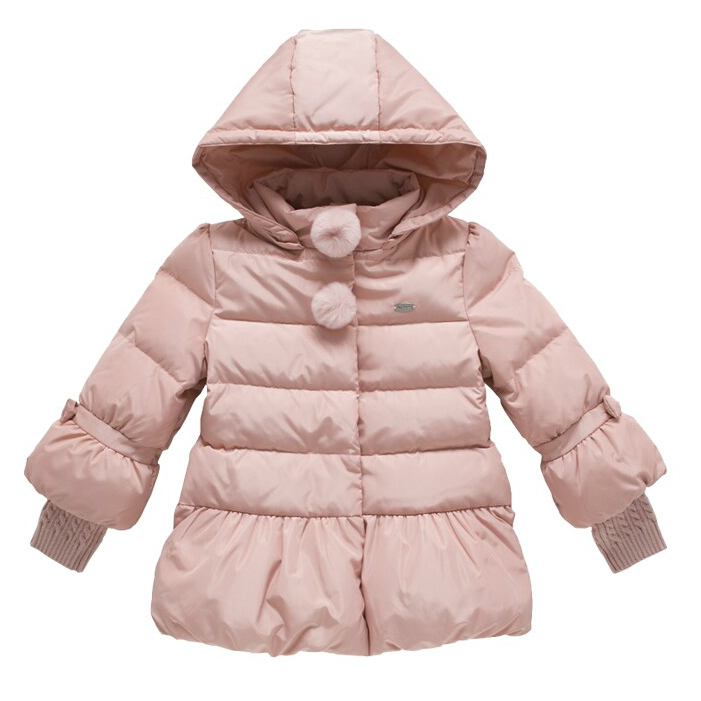 2016 Cold Winter Warm Thick Baby Child Girl Kids Hoody Long Outerwear Pink Duck Down Parkas