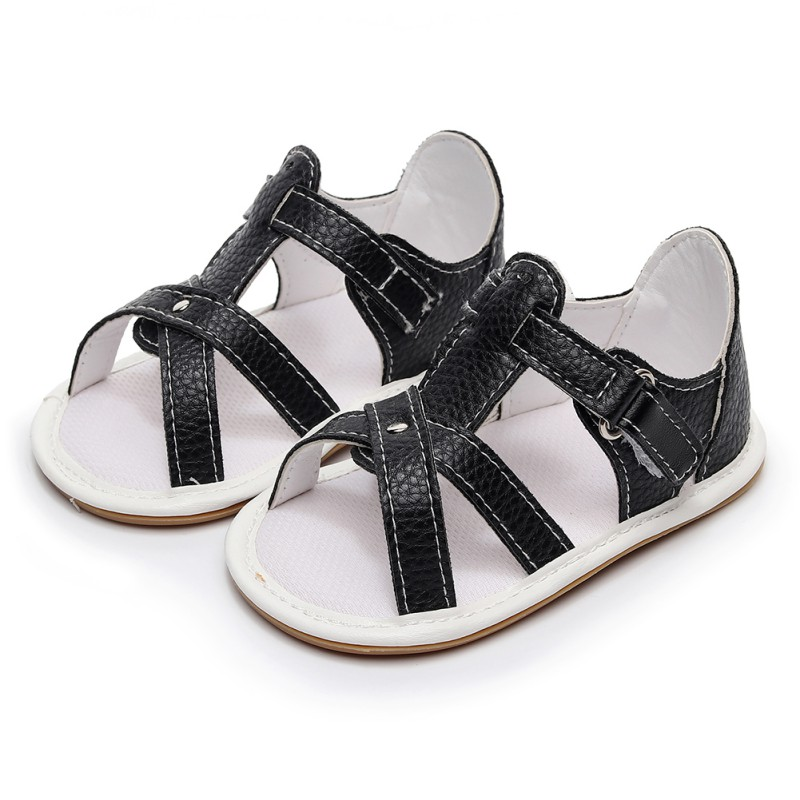 PU Leather Infant Toddler Newborn Baby Boy Kid Soft Rubber Soled First Walkers Shoes Crib Babe Footwear 2017 Summer New