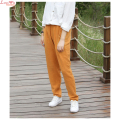 New 2017 Soft Fine Texture Cool Casual Elastic Waist Long Pencil Pants Women Art Daily Leisure Slacks Trousers