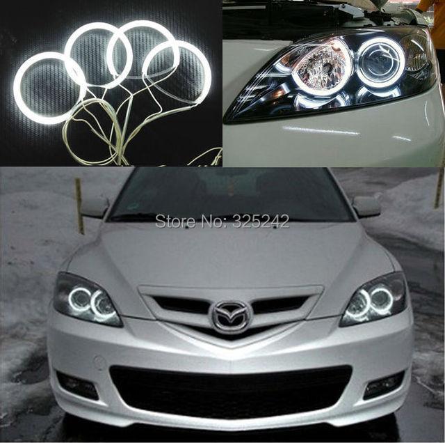 Para Mazda 3 mazda3 2003 2004 2005 2006 2007 Excelente Anjo olhos kit NOVO Ultra brilhante farol de iluminação CCFL Anjo Olhos kit