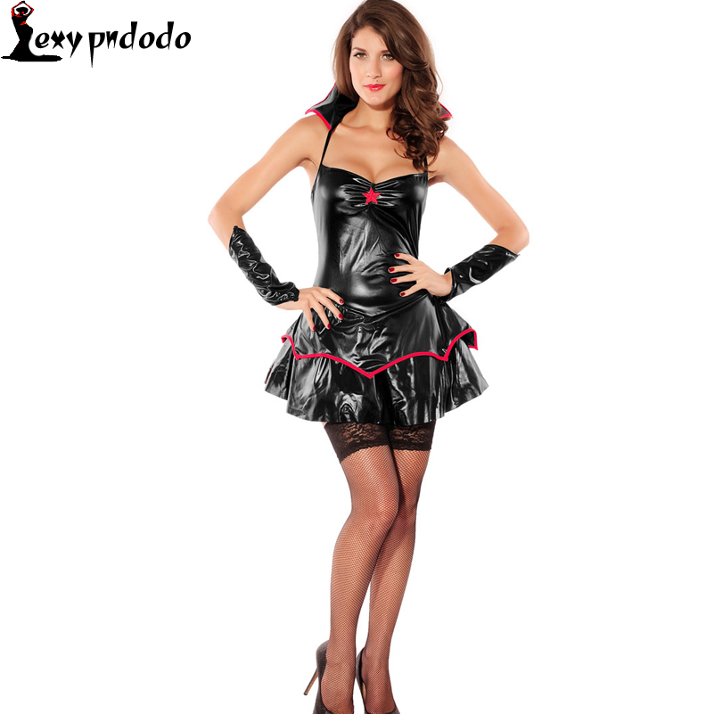Sexy Queen Darkness Costume 2016 New Arrival Halloween Costume Plus Size Costume Women Fancy Dress Apparel Party Wholesale dress