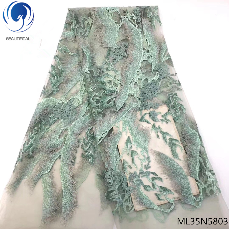 BEAUTIFICAL african lace fabric 2019 high quality sequin french lace nigerian lace fabrics french african lace fabric ML35N58BEAUTIFICAL african lace fabric 2019 high quality sequin french lace nigerian lace fabrics french african lace fabric ML35N58