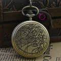 Оптовая моды кварца человек астрономии доктор кто карманные часы классические старинные антикварные мужчины брелок часы древний бронзовый оборудование