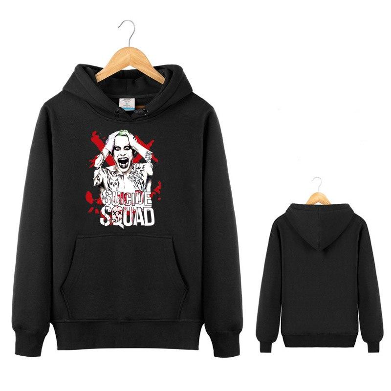 Movie Joker Hoodie Jacket Novelty Funny Men Suicide Squad Cosplay Sweatshirt Costume