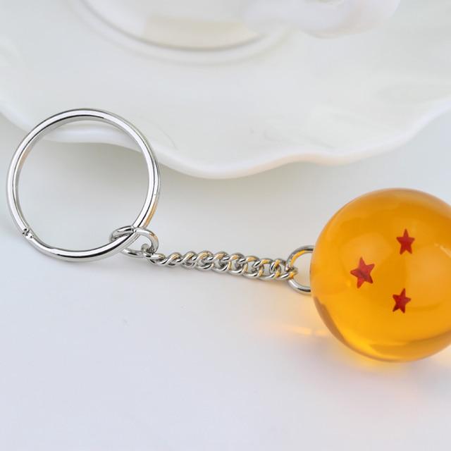 Dragon Ball Z Super PVC Goku Key Chain Pendant Crystal Ball Key Ring