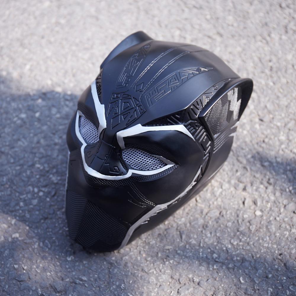 MANLUYUNXIAO máscaras de pantera negra de cara completa película Pantera Negra Cosplay máscara para fiesta de Carnaval para adultos envío gratis - 4