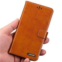 High Quality Natural Genuine Leather Flip Stand Lanyard Cover For Samsung Galaxy J1 2016 4.5