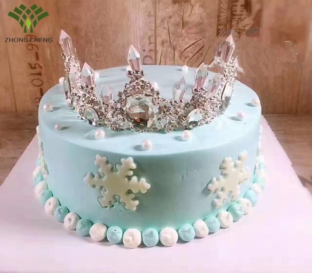 Bridal jewelry rhinestone Crown tiara birthday cake decoration