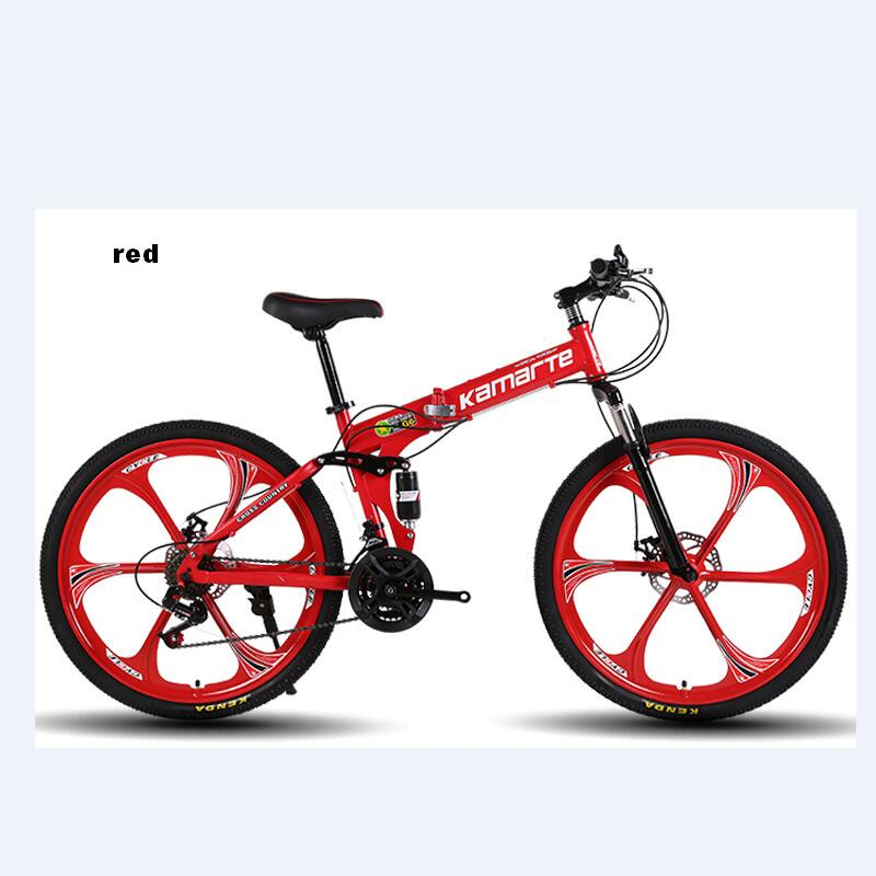 003 Foldable Bicycle 24-Inch Adult Mountain Bike 21/24/27 Speed High Carbon Steel Mountain Bicycles Sport Men Women Bicicleta