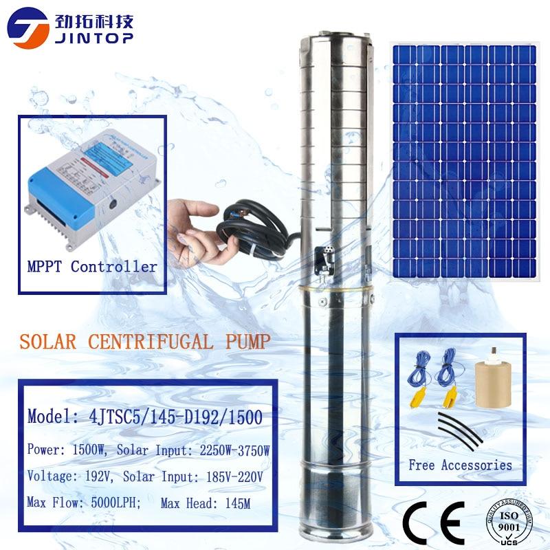 (Modèle 4JTSC5/145-D192/1500) JINTOP 4 pouces pompe solaire importé japonais machine à CNC plus de 6 procédures de travail pompe à eau solaire