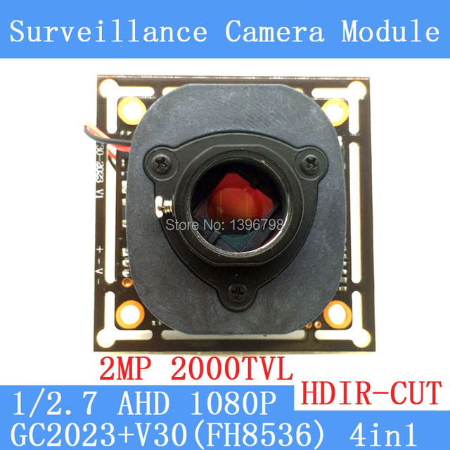 2MP 1920 * 1080 AHD 1080P Camera Module Circuit Board, 1 / 2.7 2000TVL GC2023 + V30  PCB Board + HD IR-CUT dual-filter switch