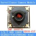 AHD 1080 P Câmera de 2MP 1920*1080 Placa de Circuito do Módulo, 1/2.7 2000TVL GC2023 + V30 Placa PCB + HD IR-CUT interruptor dual-filtro