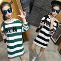 High Quality Kid T-shirt Split Hem Full Sleeve Baby Girl Striped Shirt Classic O-neck Ropa Nina Skin-friendly Children Clothes