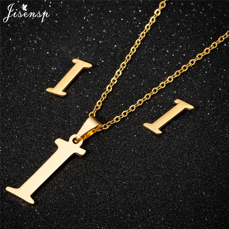 Jisensp Personalized A-Z Letter Alphabet Pendant Necklace Gold Chain Initial Necklaces Charms for Women Jewelry Dropshipping 19