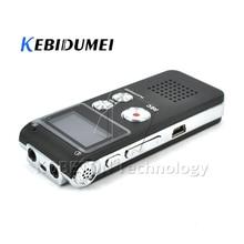 Kebidumei מיני 8GB נטענת דיגיטלי אודיו מקליט קול דיקטפון MP3 נגן הקלטת עט מקליט עט