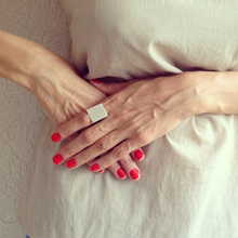 Stylish Wide Ring Women Punk Rock Simple Gold Silver Square Gift Finger Ring Fashion fine jewelry mulheres anel R90