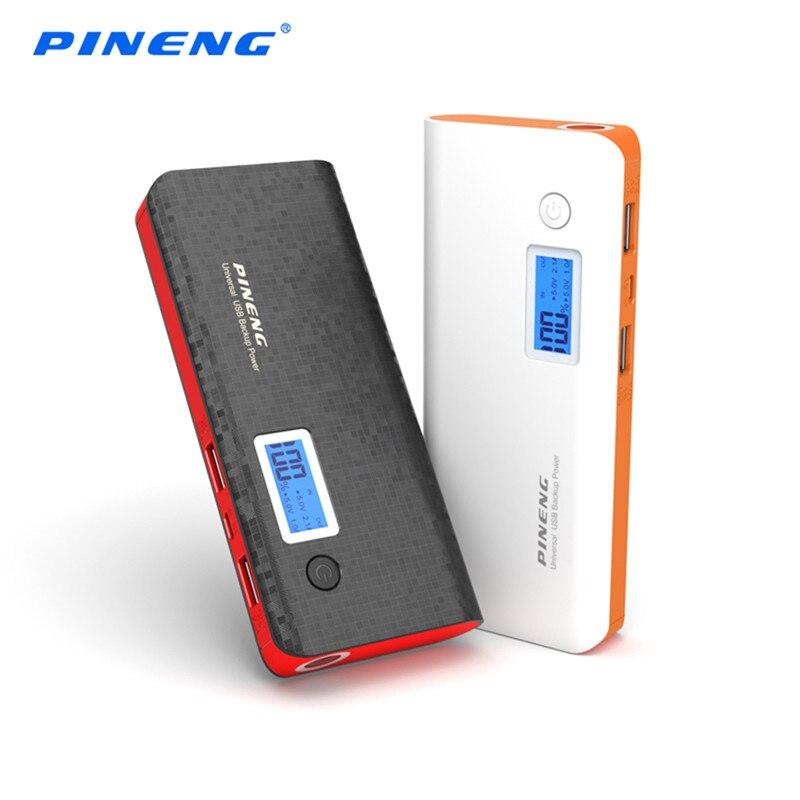 Цена за Pineng Мощность Bank 10000 мАч внешний Батарея Портативный быстро Зарядное устройство Dual USB LED Мощность Bank для iPhone Samsung LG HTC PN-968