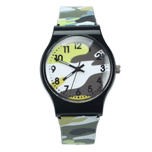2018 Hot Sale Camouflage font b Children b font Quartz Wristwatch For Girls Boy Kids font