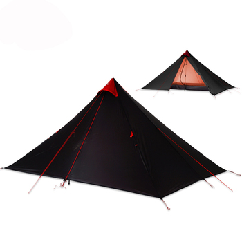 2019 FLAME'S CREED 15D Silicone Coating Rodless Double Layers Tent single 1 Person 3 Season Waterproof Ultralight camping tent 1