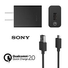 Original Sony UCH10 Fast US charger Travel charger + UCB11 Cable For Sony Xperia Z3 Compact z3 plus Z1 Z2 Z3 C5 Z5 Z4 Z5P XA XP