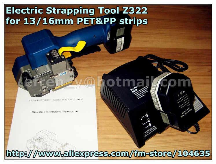 Z322 Батарея действовали работает pp & ПЭТ связывая инструмент, переносной пластиковый сварки трением Электрический инструмент для обвязки для 13/16 мм