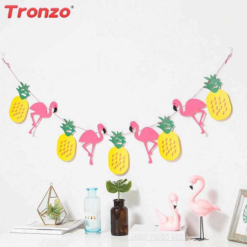 af7732f16f8bb7 Tronzo 3 M Flamingo Bannière Guirlande Non-tissé Ananas Drapeau Pour ...